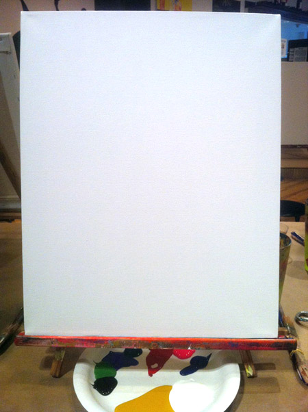 A *real* blank canvas!