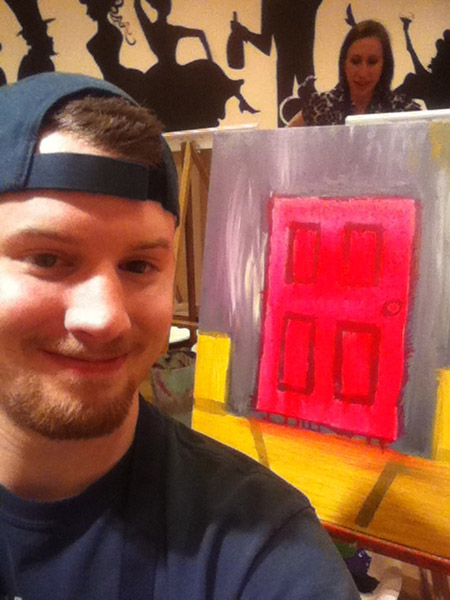 Me and my (unfinshed) painting
